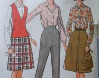 Vintage 1964 4 piece separates sewing pattern McCall's 7395 size 13