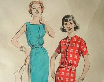 Vintage Butterick 8561 sewing pattern sheath dress and jacket Size 14