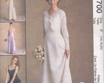 McCalls 9700 wedding formal dress sewing pattern Alicyn Exclusives size F 16 18 20
