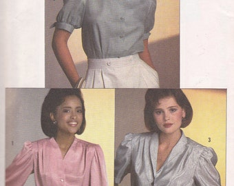 Size 10 Blouse pattern from 1984 Simplicity 6706 Easy to Sew Bust 32 1/2
