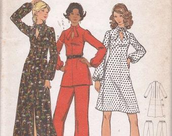 Butterick 1970s pattern 6876 Size 16 1/2 Bust 39 Dress long short tunic pants uncut Easy 3