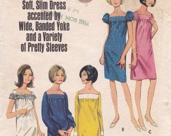 Butterick 4232 1960s slim dress pattern size 12 variety of pretty sleeves uncut