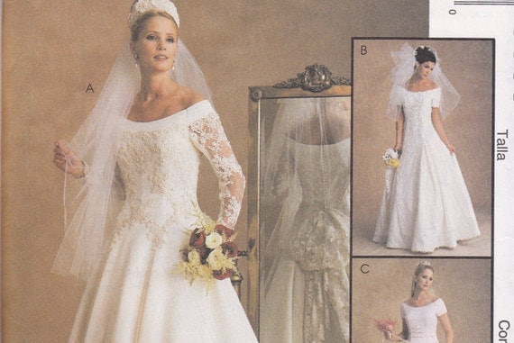 McCalls 9685 wedding dress sewing pattern Alicyn Exclusives uncut 16 18 20