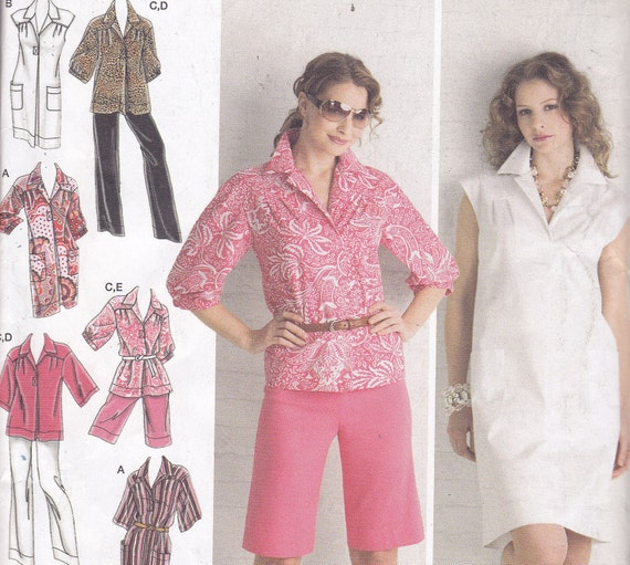 Simplicity 2894 Size BB 20W-28W OOP shorts pants dress top tunic wardrobe Designs by Karen Z