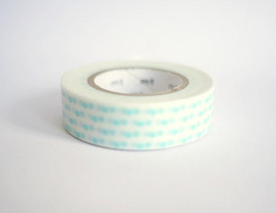 Japanese Masking Tape - Pearl Blue Dots