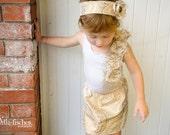 A-Line Brocade Skirt