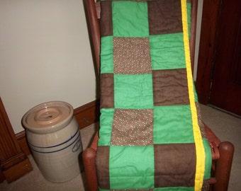 Green & Brown Patchwork Quilt