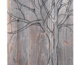Cherry Tree - Original Painting on Wood