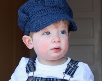 Train Conductor Hat - Crochet Pattern - Permission to sell finished items