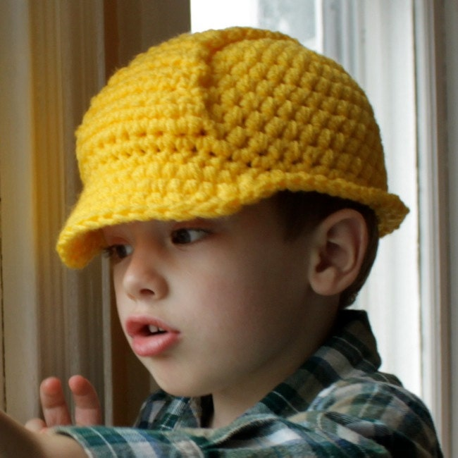 Hard Hat Helmet Crochet Pattern Permission to sell by micahmakes