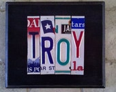 Custom License Plate Sign (1 to 4 letters) One of a Kind Gift