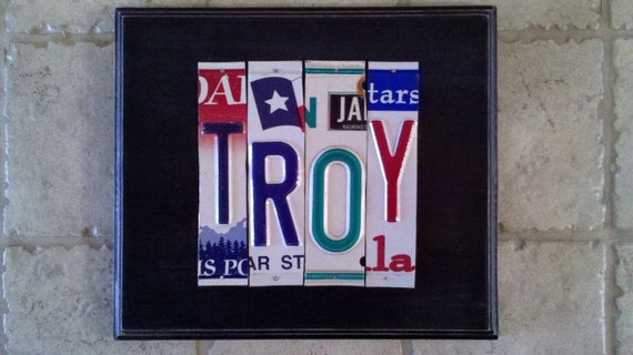 Custom license plate sign 1 to 4 letters one by for Custom license plate letters