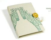 Design Journal - Zebra ( hardcover / handmade) - Sandynbear
