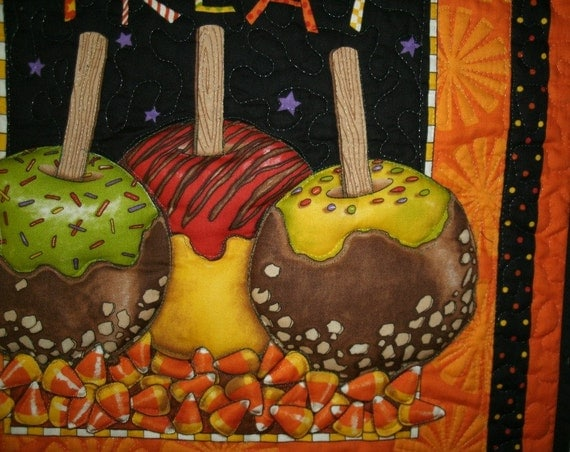 Halloween Decoration Caramel Apples and Candy Corn