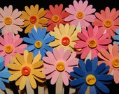 Mix and Match DAISY DRINK STIRRERS - Wedding Flowers and Party Bouquet - set of 12