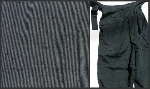 Antique  Silk Japanese Pants (Ninja/Monpe). Meiji Era - 1800s / 1900s