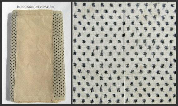"RESERVED 50% OFF Antique Yukinko Kasuri Textile. Over 7meters / 278""  handwoven kasuri and plain cotton."