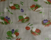 Lecien Kyo Yasai Vegetable Basket Japanese Fabric