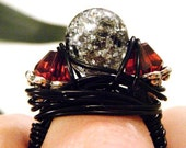 Flood Relief Appeal - Smokey Gray and Garnet Ring