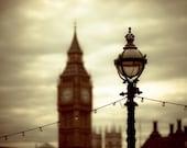 London photography: fine art photo of Big Ben and Thames - travel photograph London England - under 10 - 5x7- London Olympics