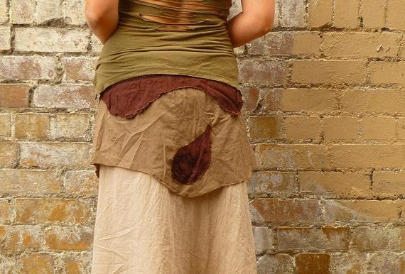 Recycled Fabric Robin Hood Wrap Mini Skirt/layer