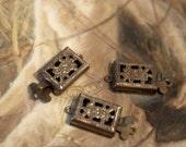 20 Aged Brass 30 Year Old Filigree Box Clasps