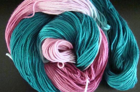 Sale 18.00 was 22.00 Lambie Pie Super Wash Merino / Nylon Sock Yarn - Cosmic Cotton Candy