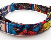 Captain America Dog Collar Comic Size Extra Small, Small, Medium or Large