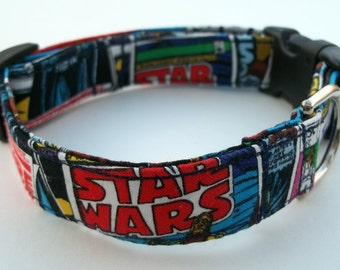 Star Wars Colorful Dog Collar Size XS, S, M or L