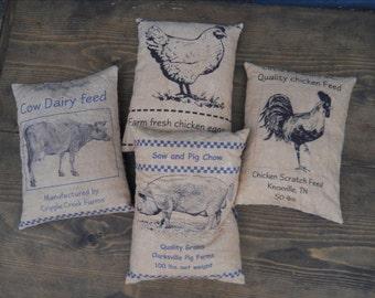 Farm Feed Sack Panels E Pattern