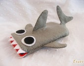 iPhone case - JAWS Shark iPhone / iPod/ Cell phone Felt Case