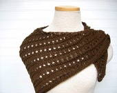 Knit Lace Shawl Dark Chocolate