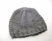 Cable Knit Hat Misty Grey