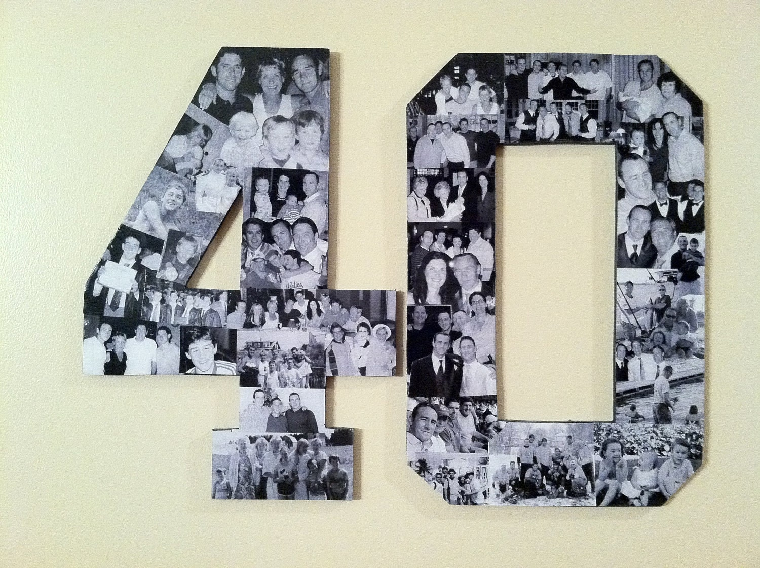 Custom alphabet collage numbers for milestone by for 40th birthday decoration