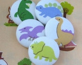 Dinosaur Fabric Covered Buttons