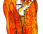"""Fire Series Stained Glass """"Tongues of Flame"""""""