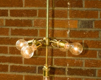 5 Light Brass Chandelier