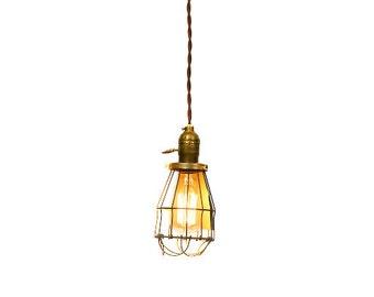 Simply Modern & Vintage Farmhouse Premium Caged Pendant Light