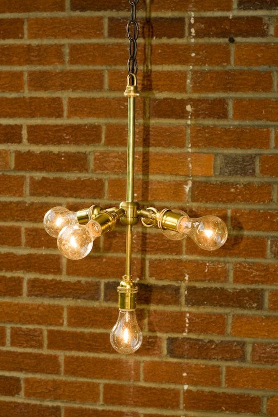 5 Light Brass Chandelier