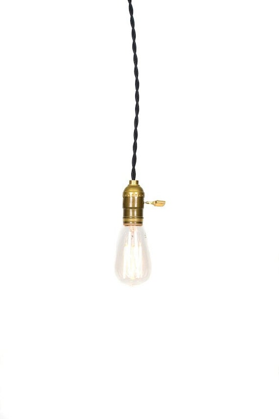 Simply Modern Vintage Farmhouse Pendant Light by junkyardlighting