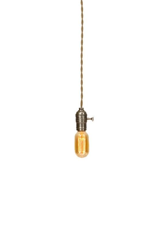 Vintage Industrial - Economy Silver Minimalist Bare Bulb Pendant Light