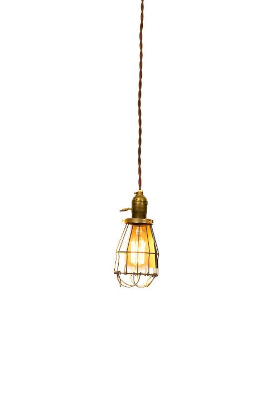 Reserved - Custom - 4 Simply Modern & Vintage Farmhouse Premium Caged Pendant Light