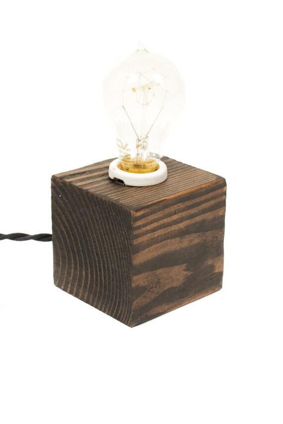 The Minimalist Edison Bare Bulb Table Accent Lamp ( Ebony )