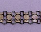 Art Deco Style Bar Circle Bar Chain Bracelet Unisex Steampunk -Handmade Vintage-