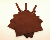 Leather Pot Holders - Brown