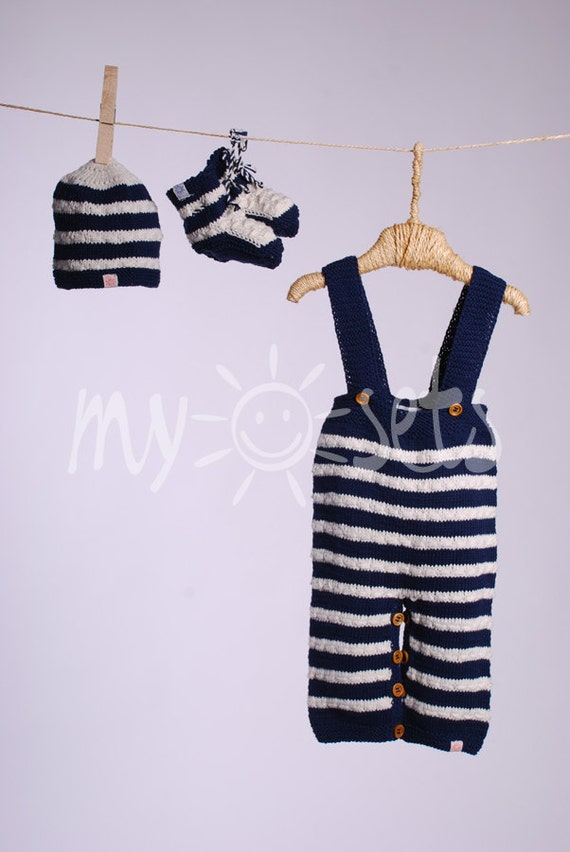 Organic baby boy pants, booties and beanie hat