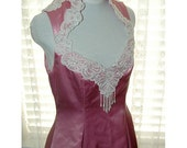 RESERVED for Stephanie...Strawberries and Cream...Vintage Pink Formal Gown S/M