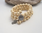 DRIFTWOOD DREAMS BEACH Jewelry, Ivory Wrap Charm Bracelet by Cheydrea