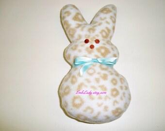 Large Animal Print Marshmallow Bunny