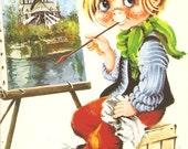 Romantic Painter Vintage Spanish Postcard